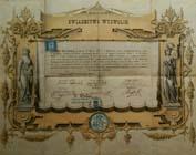Świadectwo wyzwolin z 1887r