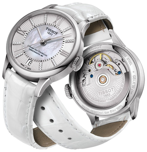 Zegarek Tissot Chemin des Tourelles Powermatic 80 Lady Diamonds T099.207.16.116.00 (T0992071611600)