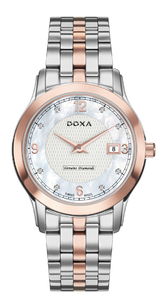 Zegarek Doxa Executive 5 Quartz D168RWH Diamonds