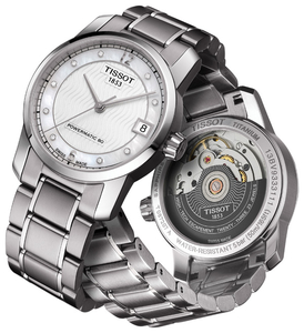 Zegarek Tissot T087 Powermatic 80 Lady Titanium Diamonds T087.207.44.116.00 (T0872074411600)