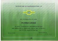 Dyplom ETA dla Łukasza Płonka